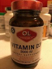 Olympian Labs Vitamin D3 5000 IU-Capsules, 100-Count Free Shipping