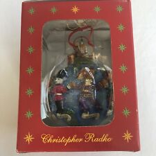 "Christopher Radko ""Teddies Around the World"" Ornament New in Box 2002 Nrfb"