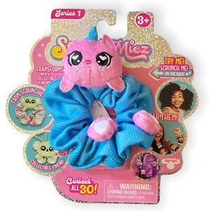 Scrunchmiez Careina Pink Fuzzy Cow Hair Scrunchy Backpack Clip Toy Series 1 NEW