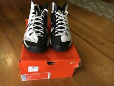 Nike 653640 100 Hyperdunk 2014 lunar basketball shoes White/Black Sz 9.5