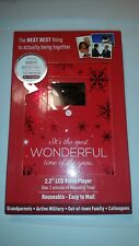 2.3 inch Lcd player Christmas video holiday greeting card. New and sealed.