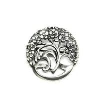 Sterling Silver 925 Celtic Floral Tree of Life Brooch