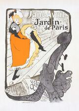 Jardin de Paris, Jane Avril by Tolouse Lautrec 90cm x 64cm Art Paper Print