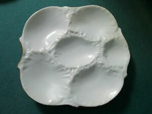 FRENCH VINTAGE ANTIQUE POTTERY MAJOLICA OYSTER PLATES PICK ONE