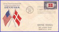 USA3 # 920 ADDR GRIMSLAND FDC   Flag of Denmark