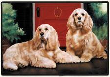 NEW Cocker Spaniel Dogs Non-Slip Rubber Backed Doormat Door Mat