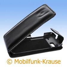 Flip Case Etui Handytasche Tasche Hülle f. HTC Desire S (Schwarz)