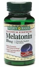 Nature's Bounty Melatonin 10mg Capsules. 60 Tablets (Pack of 5)