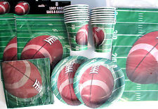 FOOTBALL SPIRAL -  Birthday Party Supply Set Pack Kit for 16 w/ Loot Bags