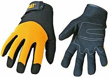 Caterpillar CAT012215J Padded Palm Utility Glove with a Mesh Spandex Back. Black