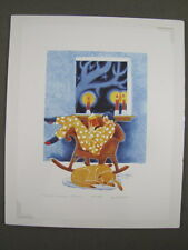 Rie Munoz Signed/Numbered Limited Edition Serigraph-Power Outage, Orcas, '94