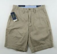 NEW Polo Ralph Lauren Mens Stretch Classic Fit Khaki Chino Shorts Tag 28 Fits 29