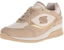 Skechers 48770 GLD Women's WEDGE FIT: VITA Oxford Sneaker Sz. 9 NEW