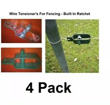 Wire Fence Tensioner 4 Pack -  Ratchet Type - Galvanised Zinc