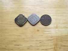 3 X NEDERLAND COINS  1913-14 5 CENTS  PLUS 1 CENT 1919