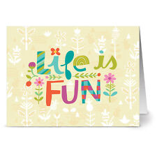 24 Note Cards - Life is Fun - Yellow Envs