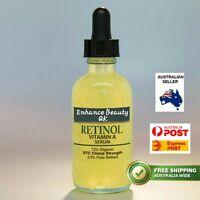PURE RETINOL VITAMIN A 2.5% Anti Aging Wrinkle Acne Serum Very Popular