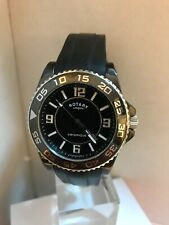 Rotary Men's Analogue Ceramique Ceramic Watch Black Rubber Strap Watch CEBRS/19