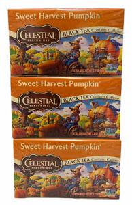 Tea Celestial Seasonings Sweet Harvest Pumpkin Tea - 3 Boxes - FREE SHIPPING