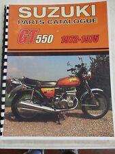 Suzuki GT550 parts manual  1972 1973 1974 1975