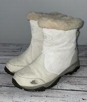 The North Face Snow Boots Primaloft Suede Winter Tan Cream White Women's Size 7