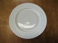 """Food Network BRIE WHITE Dinner Plate 10 3/8"""" 1 ea      4 available"""
