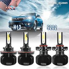 Combo H13 9008 LED Headlight Kit+5202 Fog Lights 6000K for 2008-2012 Ford Escape