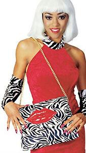 Rubies Novelty Zebra Pocketbook Purse with Lips