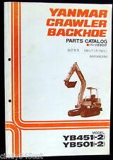 Yanmar Crawler Diesel Backhoe Parts Catalog YB451(-2)  YB501(-2) 3rd Ed Nov 1991