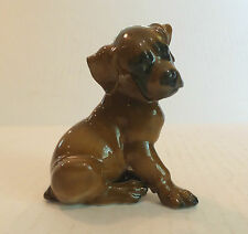 "CUTE VINTAGE ROSENTHAL ""CLASSIC ROSE"" PORCELAIN DOG / PUPPY FIGURINE"