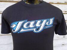 TORONTO BLUE JAYS MEN'S T SHIRT S  MAJESTIC MLB BASEBALL S.SLEEVE BLACK COTTON