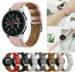 Genuine Leather Watch Band For Samsung Galaxy Watch 3 Active 2 40mm 44mm Strap