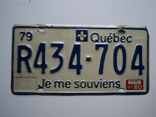 1979 1980 QUEBEC CANADA Je Me Souviens License Plate r434 704 Can