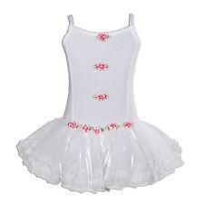 New Girls White Ballet Dance Tutu Dress 7-8 Years