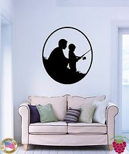 Wall Stickers Vinyl Decal Father And Son Fishing Cool Family Decor z1588