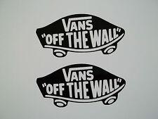 2 x Vans Off The Wall Vinyl Decal Stickers Skateboard Clothing Ski Skate Car