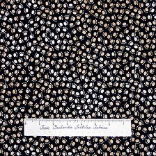 Pet Fabric - Brown Cat Dog Paw Print on Black - Timeless Treasures Cotton YARD