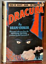 DRACULA~BRAM STOKER~1931 PHOTO PLAY~W. ORG STUNNING DUST JACKET & SIGNED TWICE!!