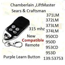 Sears Craftsman 139.53753 4 button Garage Door Opener remote transmitter 315mhz