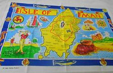 Vintage Souvenir Teatowel  'Isle of Man' - Linen, brand new unused
