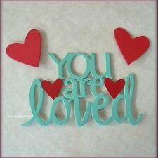 YOU ARE LOVED WORD PACK METAL MAGNETS BY EMBELLISH YOUR STORY FREE U.S. SHIPPING