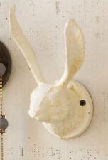 Kalalou Towel Hat Bath nautical Rustic White Rabbit bunny ears head WALL HOOK