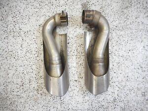 05 2005 Porsche Cayenne 955 Right & Left Exhaust Muffler Tips Ends Set OEM