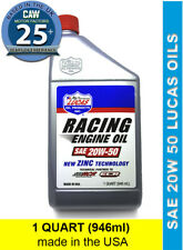 SAE 20W 50 High Performance Zinc Mineral Racing Engine Oil Lucas 1 Quart 946 ml