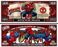 SPIDERMAN - BILLET de collection 1 MILLION DOLLARS ! Super Héros Marvel Comics