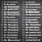 WUNSCHTEXT Aufkleber, diverse Schriftarten und Farben 👉 Breite: 20cm