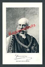 Kaiser Franz Josef I. v. Österreich Ornat Orden Goldenes Vlies Wappen K.u.K 1909