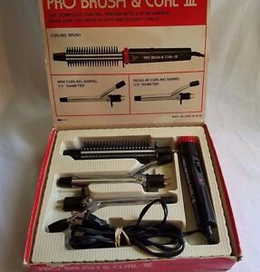 Vtg. K-Mart Pro Brush & Curl-lll Model 06-26-58 3 Attachments Tested All Works