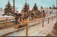 TOBOGGAN SLED Winter Catskill Resort Grossinger New York Vintage PC Rare