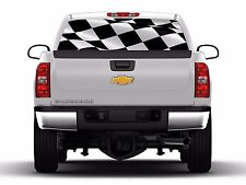 Checkered Flag Rear Window Graphic Vehicle Tint Truck Decals Stickers